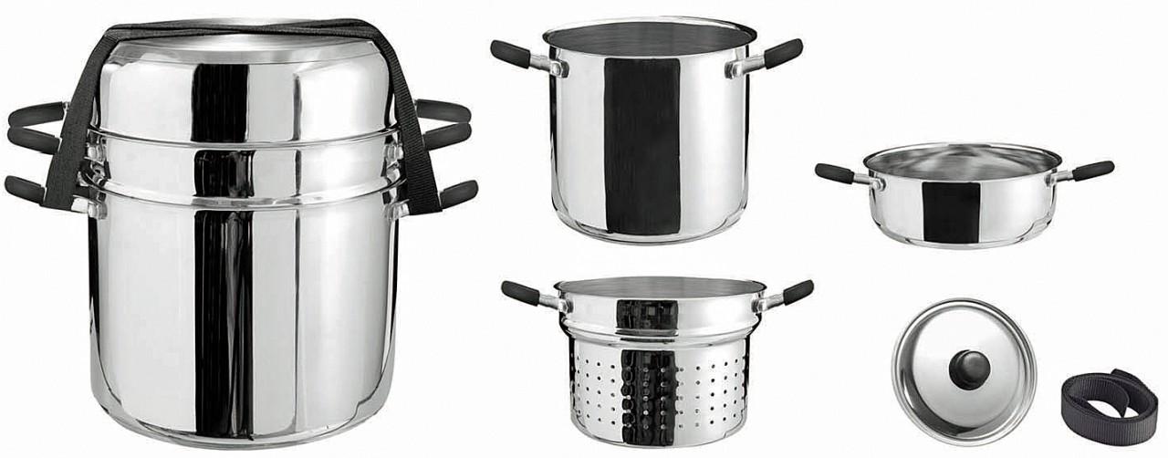 Inox set de casseroles ensemble des casseroles deluxe 4 - Batterie de cuisine en acier inoxydable ...
