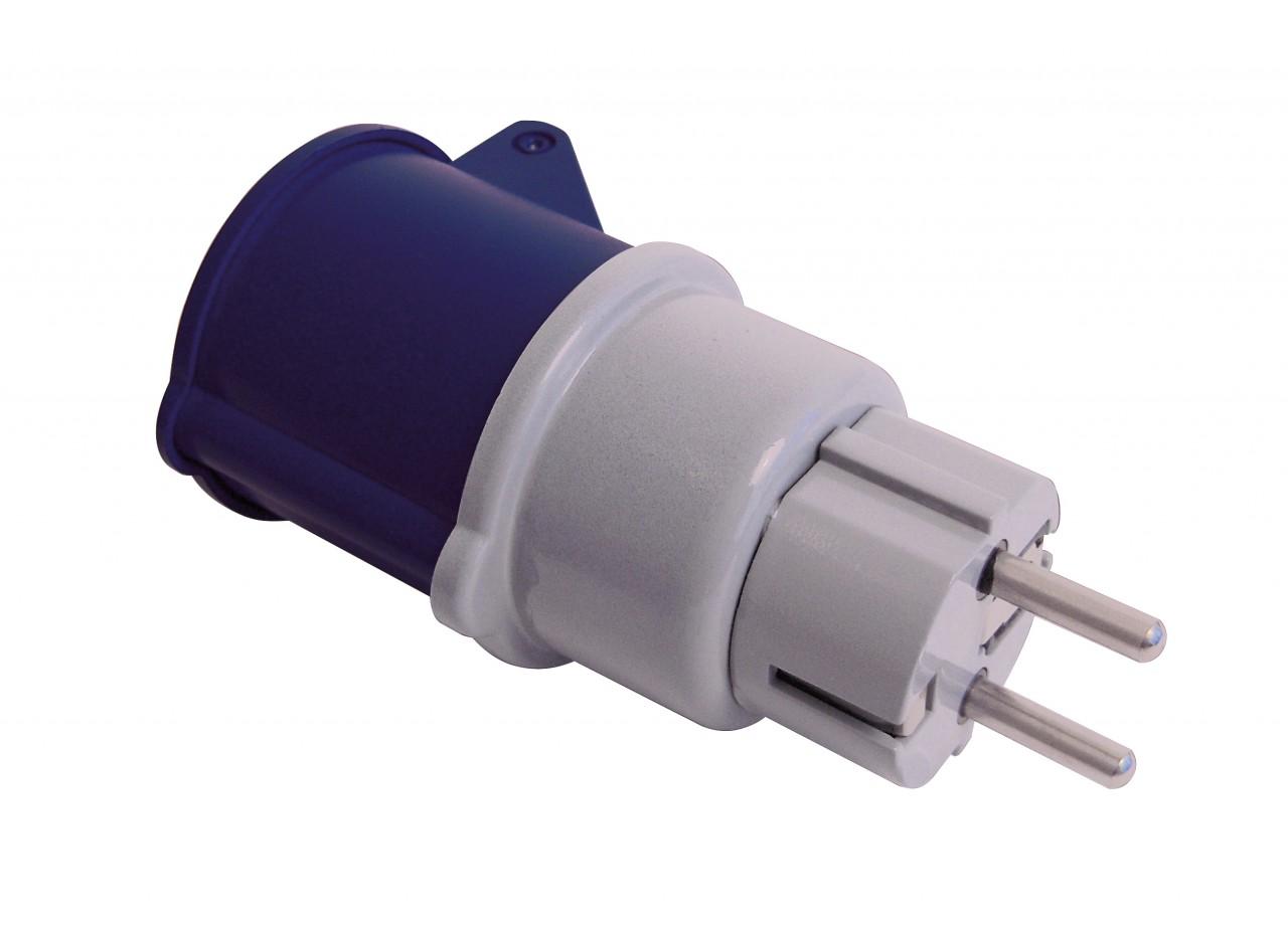 friggeri cee adapter cee kupplung auf schuko stecker steckadapter ohne kabel ebay. Black Bedroom Furniture Sets. Home Design Ideas