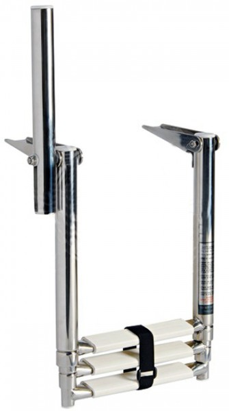 ausziehbare teleskop bade leiter f r plattform badeplattform mit hand griff neu ebay. Black Bedroom Furniture Sets. Home Design Ideas