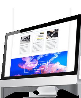 Newsletter auf Monitor