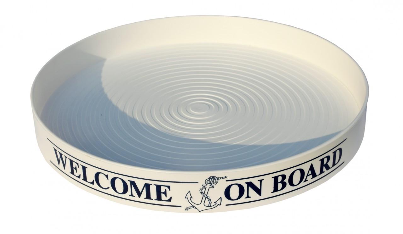 anti rutsch tablett welcome on board. Black Bedroom Furniture Sets. Home Design Ideas