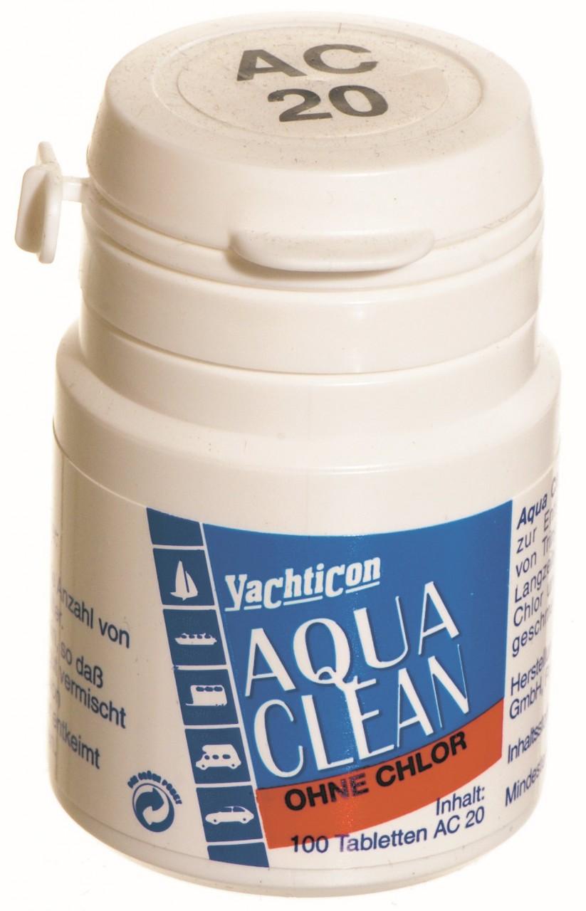 Yachticon aqua clean ac 20 ohne chlor 100 tabletten f r for Gartenpool ohne chlor